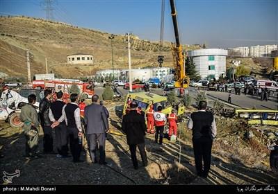 واژگونی اتوبوس حامل دانشجویان دانشگاه آزاد در دانشگاه علوم و تحقیقات تهران
