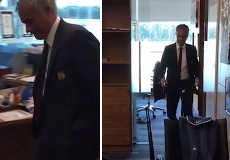 فوتبال جهان| تخلیه کامل دفتر کار مورینیو 15 دقیقه پس از اخراجش!