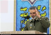 فرمانده کل ارتش در یادواره شهدای شهرستان پیشوا سخنرانی میکند