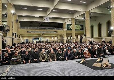 مراسم ترحیم و بزرگداشت آیتالله هاشمی شاهرودی با حضور رهبر معظم انقلاب