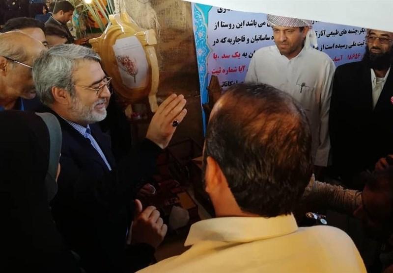 نمایشگاه توانمندیهای روستایی استان بوشهر با حضور وزیر کشور در تنگستان گشایش یافت