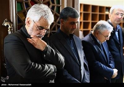 محمد مهدی طهرانچی رئیس دانشگاه آزاد اسلامی در مراسم یادبود جانباختگان حادثه دانشگاه آزاد