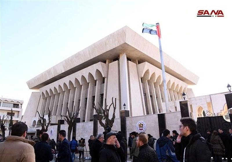سفارت امارات در دمشق بازگشایی شد + عکس