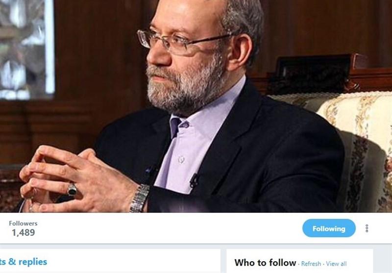 علی لاریجانی توئیتری شد