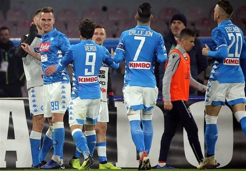 فوتبال جهان|ناپولی با پیروزی از اختلافش با یوونتوس کاست