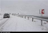 بارش برف شهرستانهای اصفهان را سفیدپوش کرد
