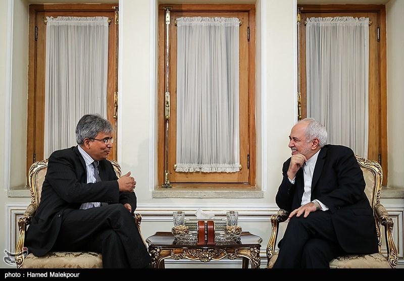 دیدار و خداحافظی سوراب کومار سفیر هند با محمدجواد ظریف وزیر امور خارجه