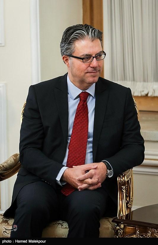رضا هاکان تکین سفیر ترکیه در دیدار با محمدجواد ظریف وزیر امور خارجه