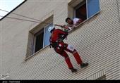مانور امداد و نجات هلال احمر در بجنورد به روایت تصویر