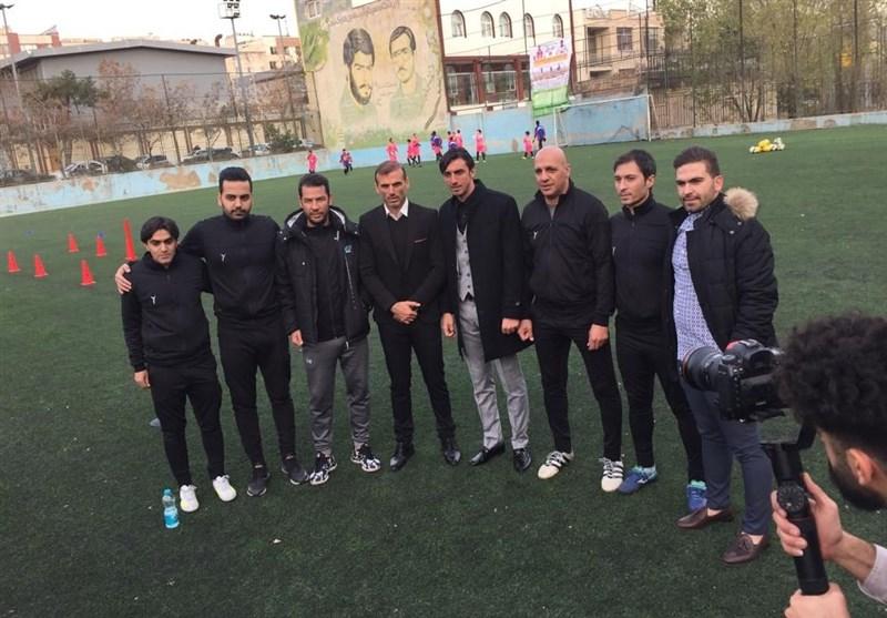 افتتاح مدرسه فوتبال سرخابی با حضور سیدجلال حسینی و مهدی رحمتی