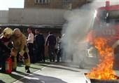 برگزاری مانور مقابله با حوادث غیرمترقبه در مدرسه شرق تهران + تصاویر