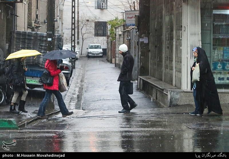 آخرین وضعیت بارشهای ایران/ سیر صعودی بارشهای زمستان+جدول