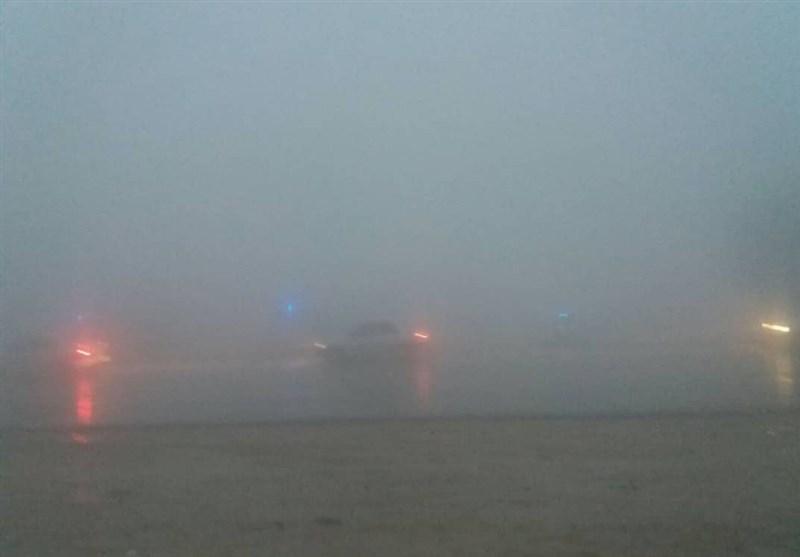 مهگرفتگی شدید در محور دشتارژن به کازرون