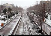 بارش نخستین برف زمستانی در بجنورد به روایت تصویر