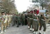 مراسم تشییع پیکر ستوانیکم غلامحسین بهشتی برگزار شد
