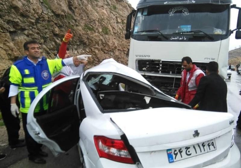 تصادف مرگبار تریلی با رانا در کهگیلویه و بویراحمد؛ 3 نفر جان باختند
