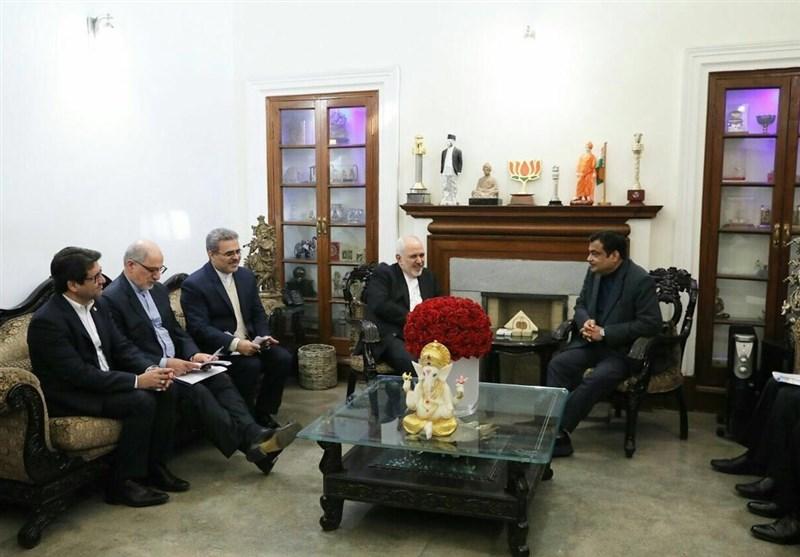 ظریف با وزیر حمل و نقل هند دیدار کرد