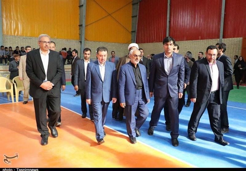 سالن چند منظوره شهر محیآباد کرمان افتتاح شد