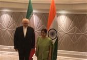 محمدجواد ظریف کی بھارتی ہم منصب سے ملاقات، دوطرفہ تعلقات کے فروغ پر تبادلہ خیال