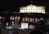 Crowd outside White House Protest Government's Fake Crisis, Border Wall (+Video)