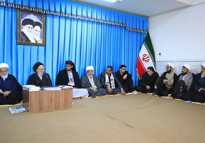 دیدار مهمانان همایش بینالمللی «40 سال مبارزه با اسلام آمریکایی» با امام جمعه بیرجند