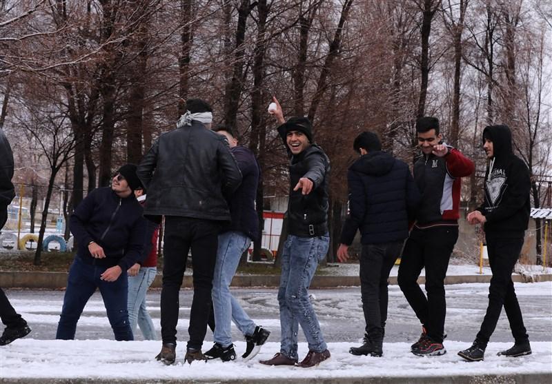 بارش زیبای برف زمستانی در شهرکرد به روایت تصویر