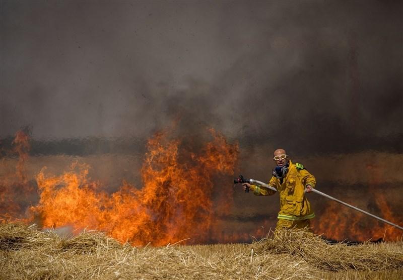 پرتاب دهها بالن آتشزا توسط فلسطینیان به سمت سرزمینهای اشغالی