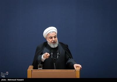 سخنرانی حجت الاسلام حسن روحانی رئیس جمهور در آیین بزرگداشت دومین سالگرد رحلت آیت الله هاشمی رفسنجانی