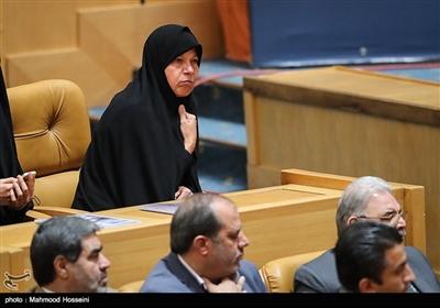 فائزه هاشمی فرزند آیت الله هاشمی رفسنجانی در آیین بزرگداشت دومین سالگرد رحلت آیت الله هاشمی رفسنجانی