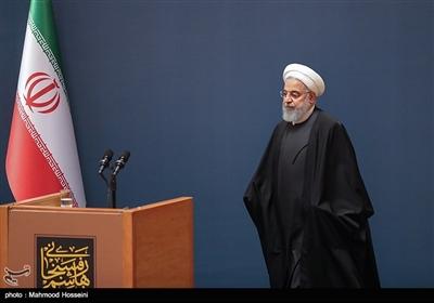 حجت الاسلام حسن روحانی رئیس جمهور در آیین بزرگداشت دومین سالگرد رحلت آیت الله هاشمی رفسنجانی