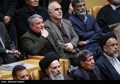 محسن هاشمی فرزند آیت الله هاشمی رفسنجانی در آیین بزرگداشت دومین سالگرد رحلت آیت الله هاشمی رفسنجانی