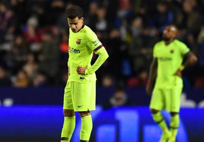 فوتبال جهان شکست خفیف بارسلونا و برتری خارج از خانه سویا در جام حذفی اسپانیا