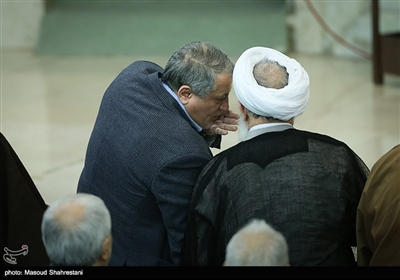 حضور محسن هاشمی در نماز جمعه تهران