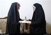 """تقدیر همسران شهدا از همسر جانباز مدافع حرم""""رضا سلمانی""""+ عکس"""