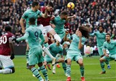 فوتبال جهان| آرسنال دربی لندن را به وستهام باخت