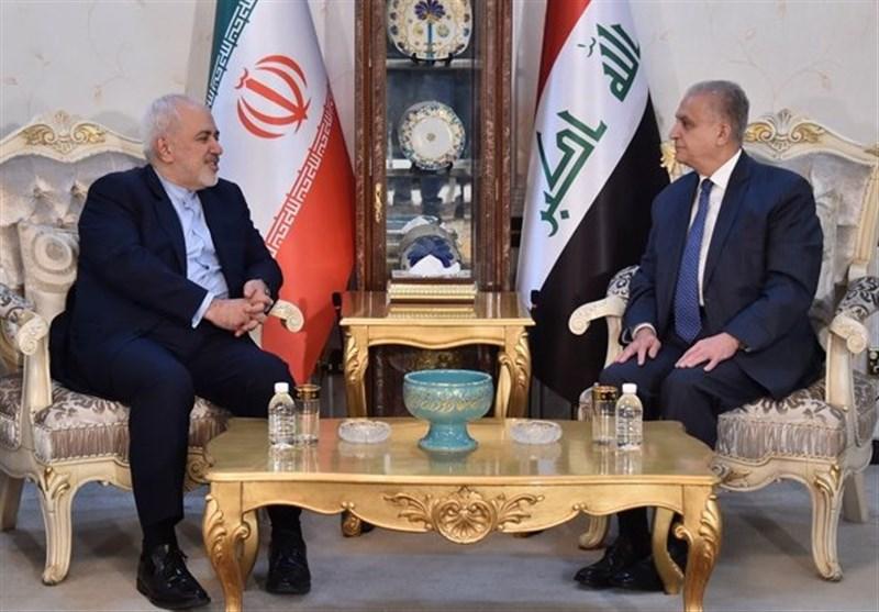 ظریف والحکیم یؤکدان على تعزیز التعاون الاقتصادی والتجاری بین طهران وبغداد