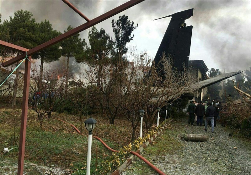 سقوط طائرة شحن غرب طهران+صور