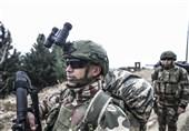 قدرتنمایی نظامیان ترکیه در مرز سوریه + عکس
