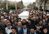 پیکر آیتالله حقیقت تشییع و در شیراز خاکسپاری شد