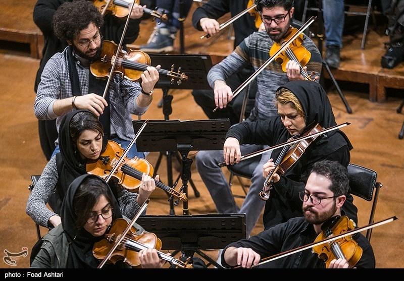 تمرین ارکستر ملی ایران برای شب موسیقی آذربایجان + عکس