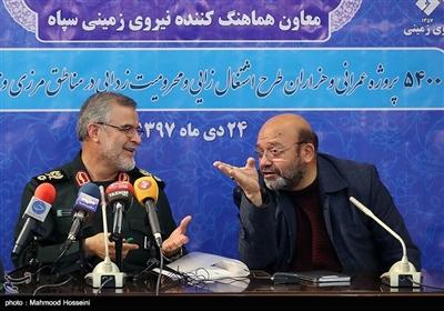 نشست خبری سردار علی اکبر پورجمشیدیان معاون هماهنگ کننده نیروی زمینی سپاه