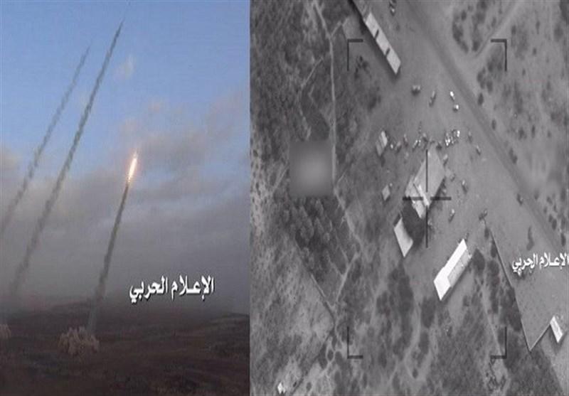 القوة الصاروخیة وسلاح الجو المسیر الیمنی یستهدفان معسکرا سعودیا فی نجران