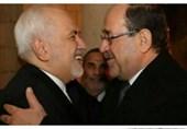 نوری المالکی یلتقى ظریف فی بغداد
