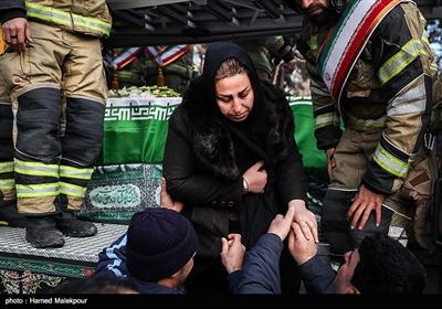 همسر آتشنشان شهید سیداحسان جامعی