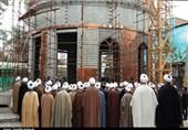 بازدید ائمه جمعه استان کرمان از گنبد در حال ساخت امام حسین(ع) در کرمان به روایت تصویر