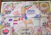 آذربایجان غربی  تابلو فرش لیگ ملتهای 2019 والیبال در خوی بافته میشود