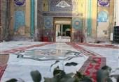 عملیات سنگ فرش بابالقبله حرم مطهر امامین عسکریین پایان یافت + تصاویر