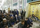 ایرانی وزیرخارجہ کی حرم امام حسین ع میں حاضری + تصویر