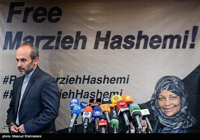 پیمان جبلی معاون برون مرزی رسانه ملی در کنفرانس خبری بازداشت مرضیه هاشمی