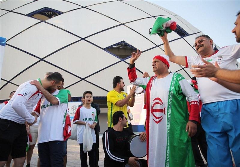 گزارش خبرنگار اعزامی تسنیم از امارات  فروش 400 درهمی بلیت در بازار سیاه و حضور مسی ایرانی + عکس